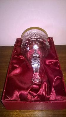 Crystal Bell - Cristallerie Zwiesel - Germany - Gold Gilt - Original - Quality -