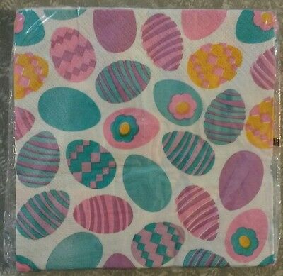 "18 ct 2 ply Paper Party Lunch Napkins 13"" ~ Spring Easter Eggs"