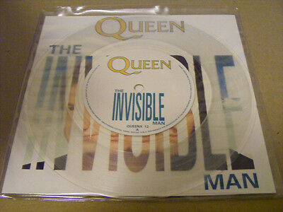 """QUEEN The Invisible Man N/Mint - CLEAR VINL Parlophone UK 1989 P/S 7"""""""
