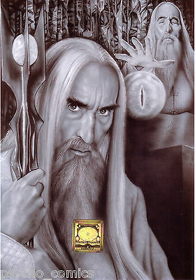 lord of the rings.a5 .. 14 ORIGINAL PRINT.S duncan gutteridge.exclusive