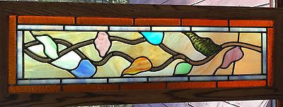 antique stained glass transom windows