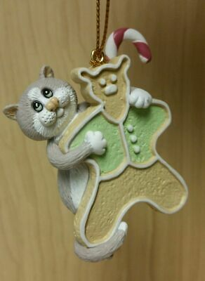 NEW Comic & Curious Cats (Linda Jane Smith) Gingerbread Holiday Ornament