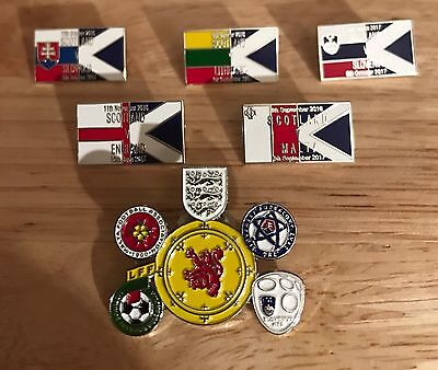 """Scotland World Cup Group F. Complete Set """"Road To Russia"""" 2018 Badges"""