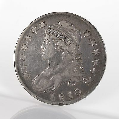 1810 Capped Bust 50C O-105 Uncertified Ungraded Early US Silver Half Dollar Coin