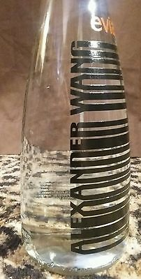 Alexander Wang Limited Edition Collectible Glass Water Bottle 2016 EVIAN BLACK