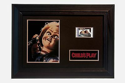 """Childs Play """"Chucky"""" - 6x4 Framed movie film cell display, Nice Gift"""