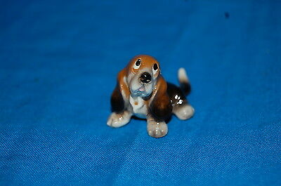 Hagen Renaker ~ Miniature Bone China Basset Hound puppy Figurine- *Make Offer