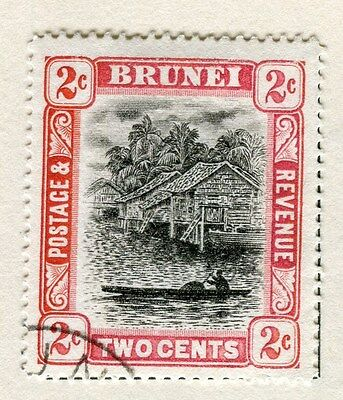 BRUNEI;  1907-10 early issue fine used 2c. value