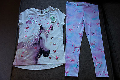 5-6 yrs NWT Mini B @ BHS Outfit Horse Pony Unicorn Top and Leggings, STUNNING