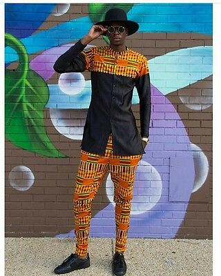 African clothing, African men's shirt, African fabric, African shop, African  sh