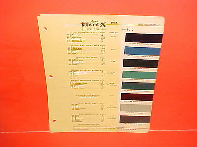 1947 Buick Special 40 Super 50 Roadmaster 70 Convertible Sedanette Paint Chips
