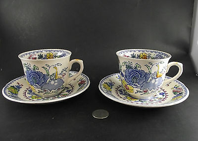 2   Masons Regency Smooth  Tea Cups And Saucers