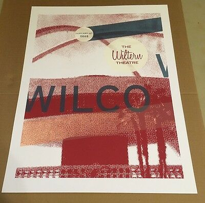 WILCO Concert Poster Wiltern Theatre Los Angeles January 25, 2012  Limited Ed.
