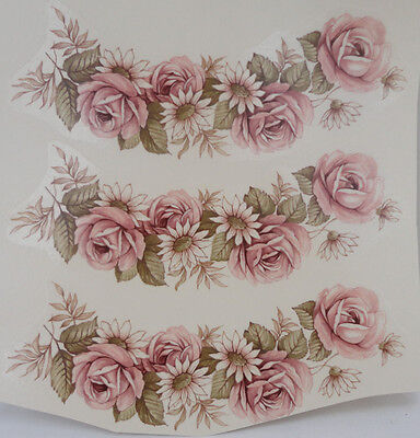 Ceramic Decal     DAISY GARLAND    12 x 4.5 cm      (3 pieces)