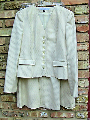 Vintage 1980s Gloria Vanderbilt Wool Skirt Jacket Suit