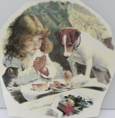 Ceramic Decal      190mm   diam   Plate size    MORNING PRAYERS