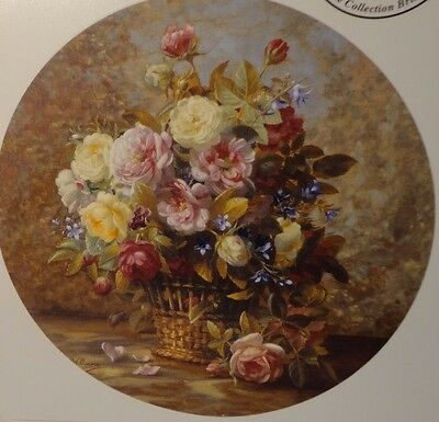 Ceramic Decal    190mm  diam.  Plate size     FANTASY ROSES  (Artist W. Albert)