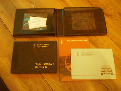 Rolls Royce Silver Shadow 11 drivers handbook and wallets