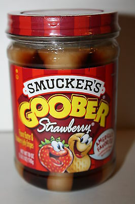 Smucker's GOOBER Peanut Butter & STRAWBERRY Jelly Stripes 510g jar