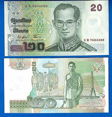 Thailand P-109 20 Baht Year ND 2003 Uncirculated FREE SHIPPING