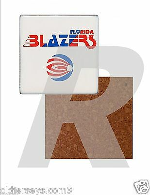 WFL Florida Blazers style 2 Tile Drink Coaster with Cork Back