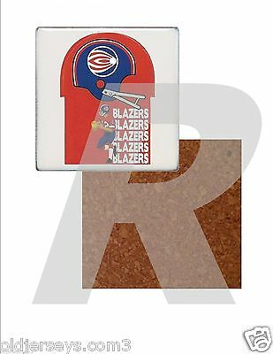 WFL Florida Blazers Tile Drink Coaster with Cork Back