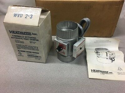 "NEW OLD STOCK Heatnapper 3"" Thermally Actuated Automatic Vent Damper WVD 2-3"