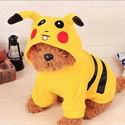 Pet Winter Clothes Coat Apparel Puppy Jacket Hoodie Pikachu Costume for Cat Dog