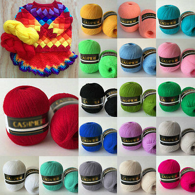 18 colors Soft Wool Crochet Sweater Scarf Hat Knitting Wool Thick Yarn 50g