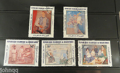 Mauritania Stamps C207-C211, Picasso Paintings, NH, SCV $4
