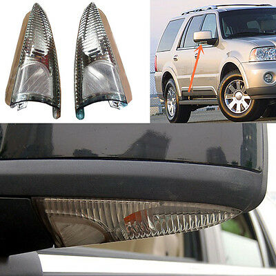 For Lincoln Navigator 2003-2006 A Pair Rear-view Mirror Light Turn Signal Lamp