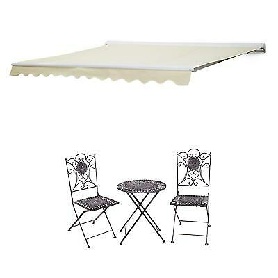Adjustable Electric Remote Awning Outdoor Shade Cover Canopy Retractable 4 X 3 M