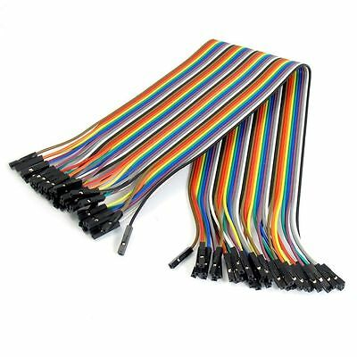 40PCS Dupont 10CM Jumper Wire Ribbon Cable for Arduino High Quality NEW Hot FE