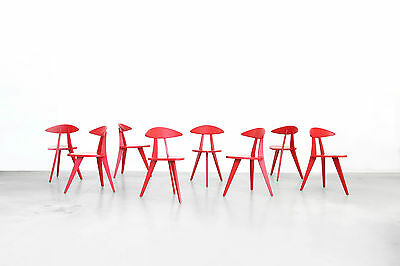 Tripod Chairs by Walter Papst for Wilkhahn, Set of 8 German design