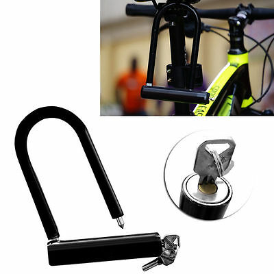 U Lock Bike Bicycle Motorcycle Cycling Scooter Security Steel Chain + 2 Keys HOT