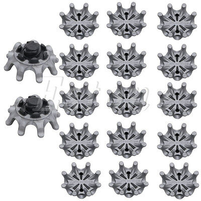 14Pcs Golf Spikes Pins 1/4 Turn Fast Twist Shoe Spikes Portable Replacement Set