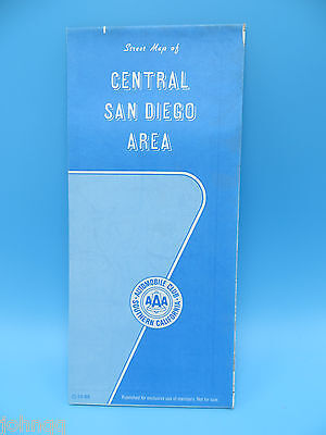 Vintage 1988 AAA Map - Central San Diego California Area