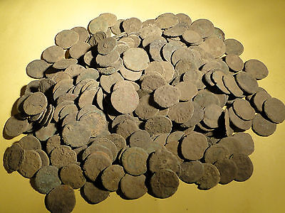 10 Assorted Uncleaned and Unresearched Roman Bronze Coins.