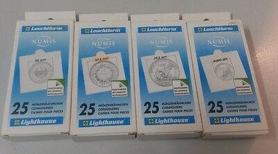 Lighthouse Numis 2 x 2 Coin Holders Pack of 25 x 4 Packs