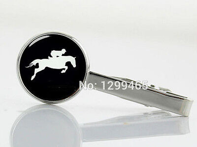 Horse & Western Gifts Accessories Show Jumper Horse Art Tie Clip