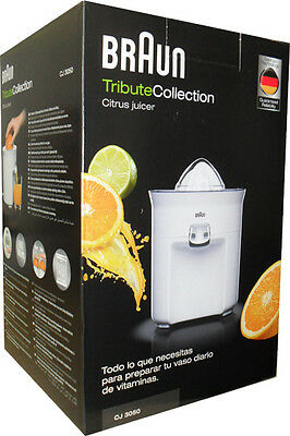 Braun CJ 3050 TributeCollection Zitruspresse weiß NEU & OVP