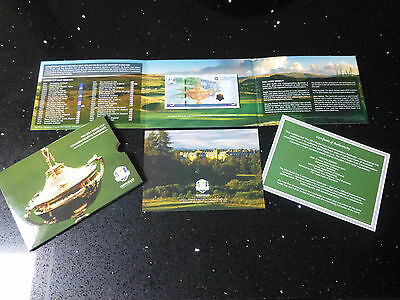*great Golfer Present* Ryder Cup 2014 £5 Note + Presentation Pack-Uncirculated