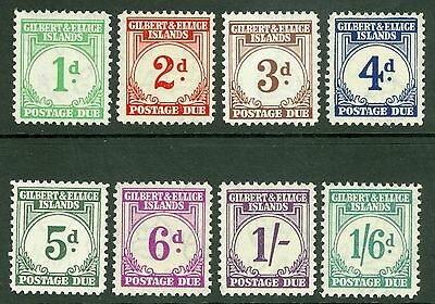 Gilbert & Ellice Islands postage dues. SG D1-D8 1d-1/6d set of 8. Pristine...