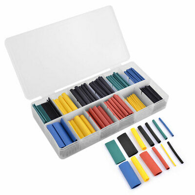 280pcs Heat Shrink Tubings Tube Sleeving Wrap Cable Wire 5 Color 8 Size