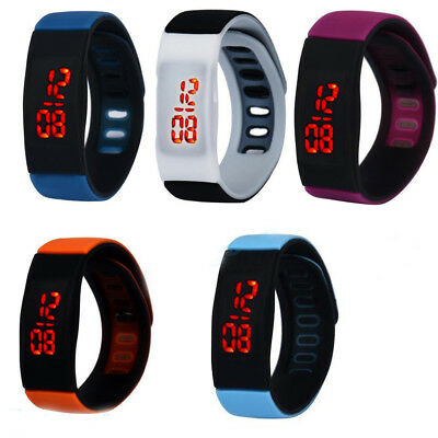 Striking Silicone Red LED Sport Bracelet Touch Digital Wrist Watch Men & Women