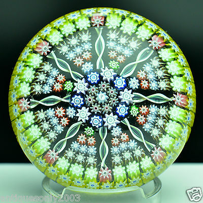 Large PERTHSHIRE PP92 Millefiori Scottish Art Glass Paperweight SIGNED #1612