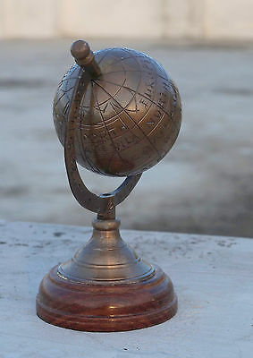Solid brass nautical 5'' globe collectible vintage globe antique finish
