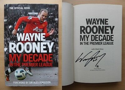 Wayne Rooney My Decade in the Premier League Signed Copy Man Utd England (9294)