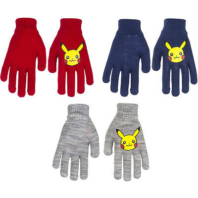 Official Fully Licensed I set of Pokemon Pikachu Gloves one size (approx 3-9yrs)