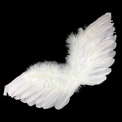 Baby Infant White Angel Wings Fairy Feather Costume Party Halloween Christmas